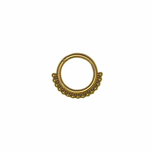 The 'Bohemian' Ring Titanium Anodised Gold