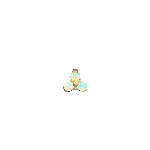 Moon Yellow Opal Trinity Titanium Anodised Gold