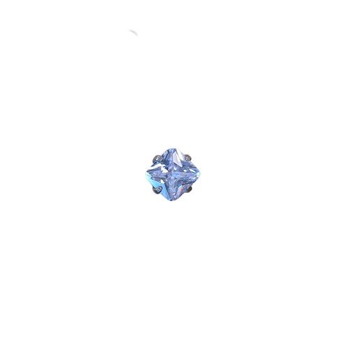 Radiant Swarovski Elements Gem End Clear Titanium