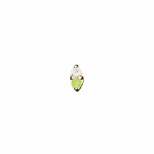 Body Gems Jade & Cz Marquise 14kt Yellow Gold