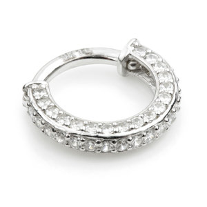 DOUBLE SIDED PAVE RING 1.2x8mm