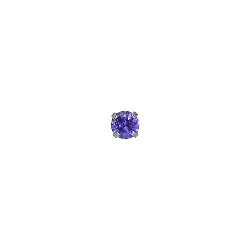 Midnight Purple Claw Set Cubic Zirconia End Titanium