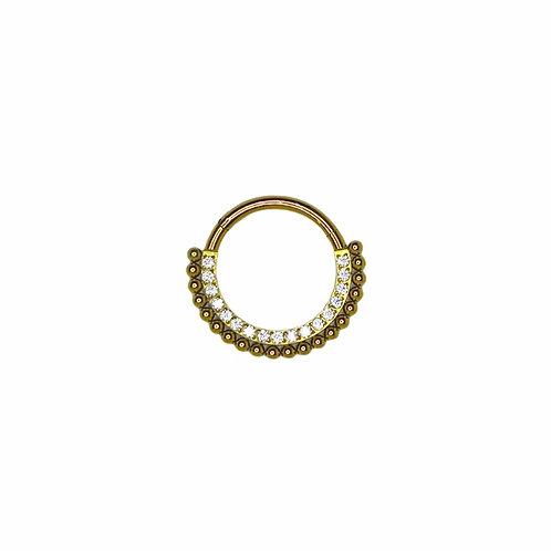 The 'Divinity' Ring Titanium Anodised Gold