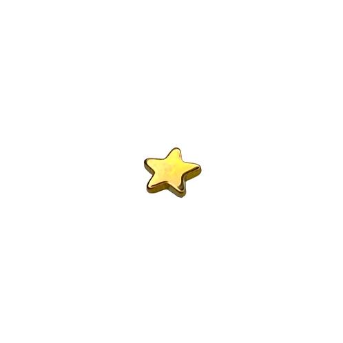 Star End Titanium Anodised Gold