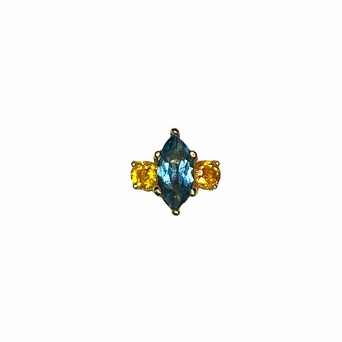 Marquise with side action - Genuine Gemstones