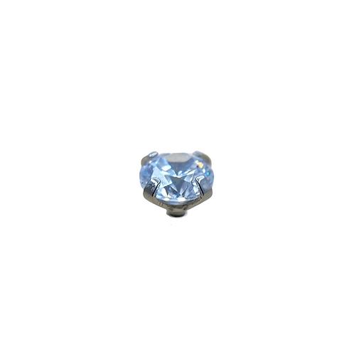 Claw Set Crystal End Titanium
