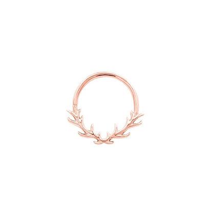 Raven Antler Seam Ring 1.2 x 10mm - Rose