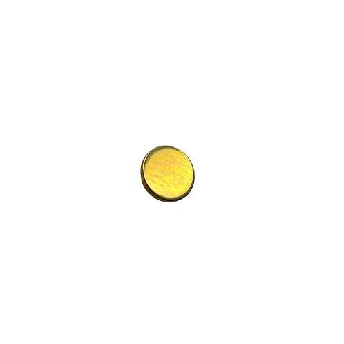 Flat Disc End Titanium Anodised Gold
