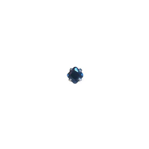 Radiant Swarovski Elements Gem End Black Titanium
