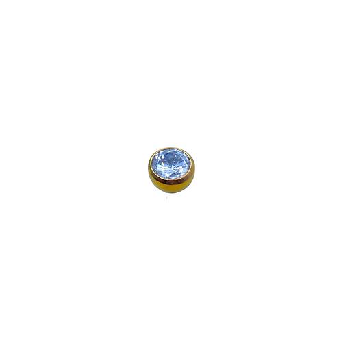 Crystal Ball End Titanium Anodised Gold
