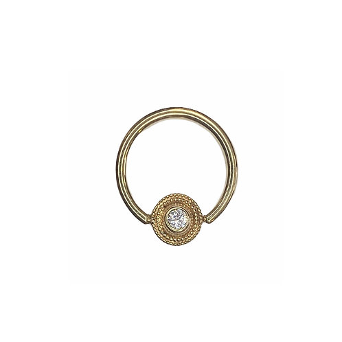Body Gems Crystal Ring 14kt Yellow Gold