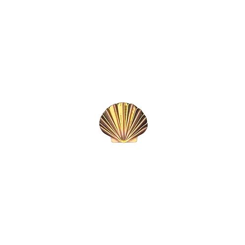 Seashell End Titanium Anodised Gold