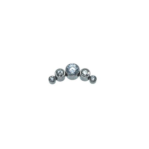 Clear Cz Cluster Titanium