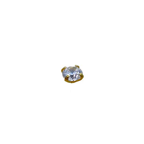 Claw Set Crystal End Titanium Anodised Gold
