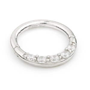 FRONT FACING CZ RING 1.2x8mm
