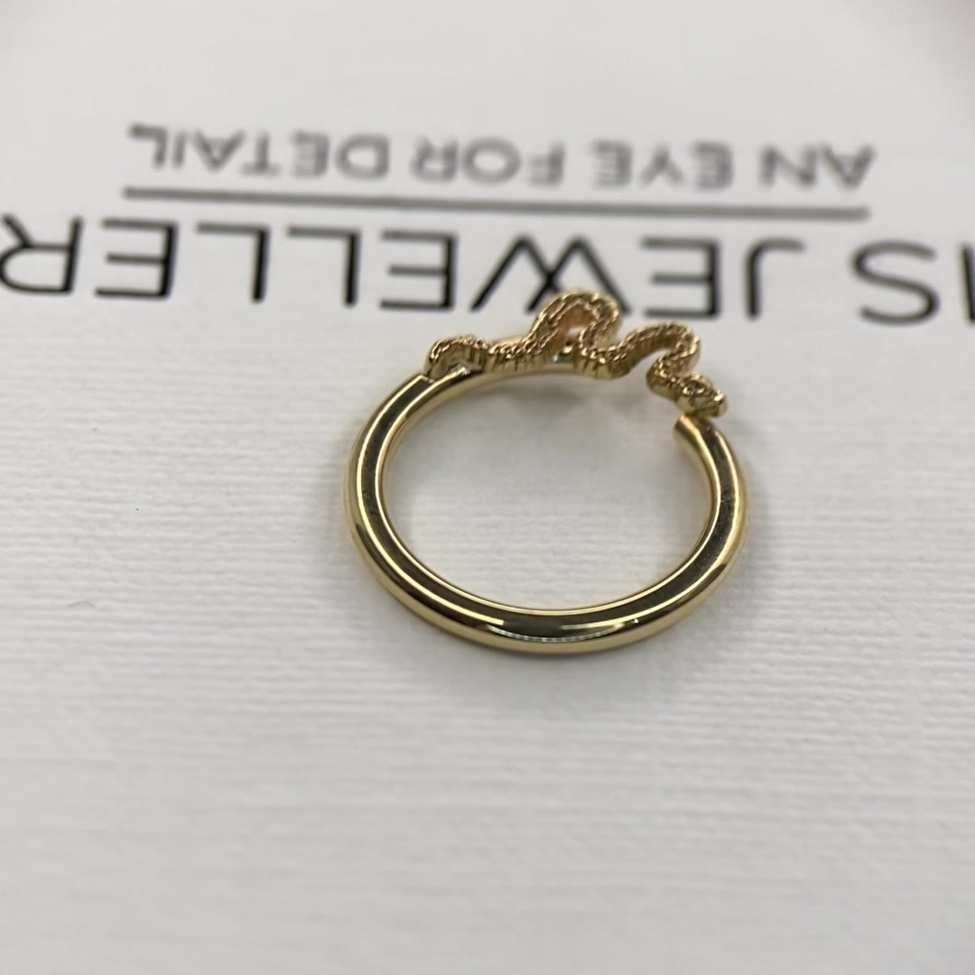 Body Gems Snake Seam Ring