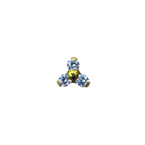 Clear Cz Trinity Titanium Anodised Gold
