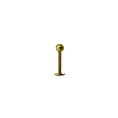Titanium Labret 1.2mm (0.9mmThread) Anodised Gold