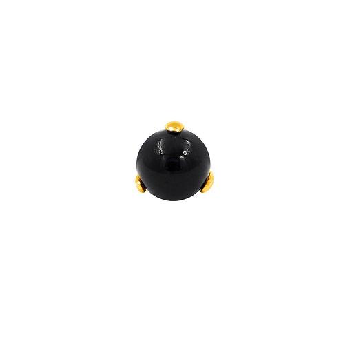 Junipurr Prong Set Onyx 14kt Yellow Gold