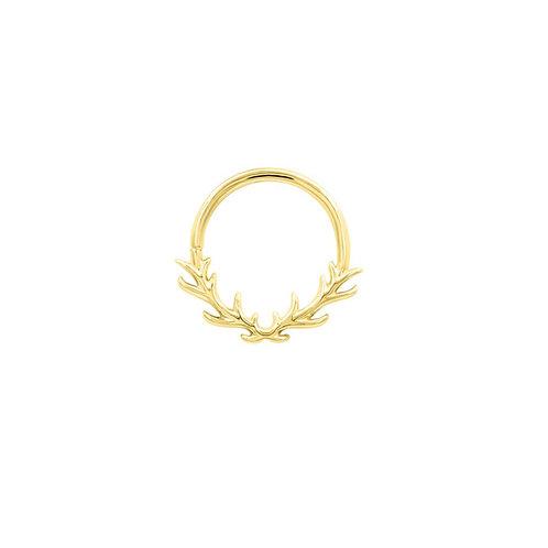 Raven Antler Seam Ring 1.2 x 10mm - Yellow