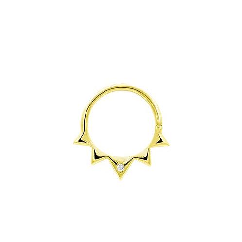 Junipurr Starfire Swarovski Ring 14kt Yellow Gold