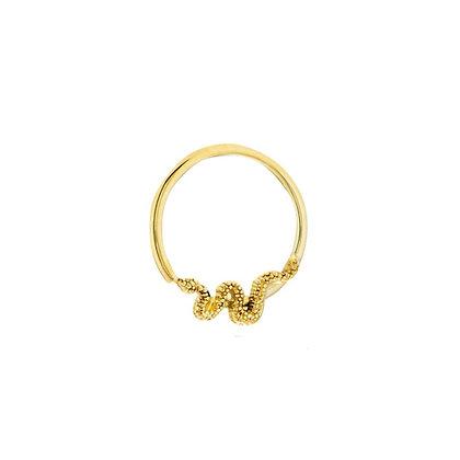Snake seam ring 1.2 x 10mm