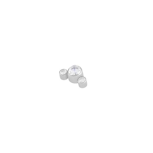 Clear Cz Mini Cluster Titanium