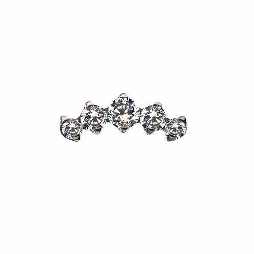 Claw Set Cluster Titanium
