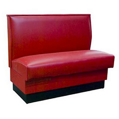 Red leather restaurant booth