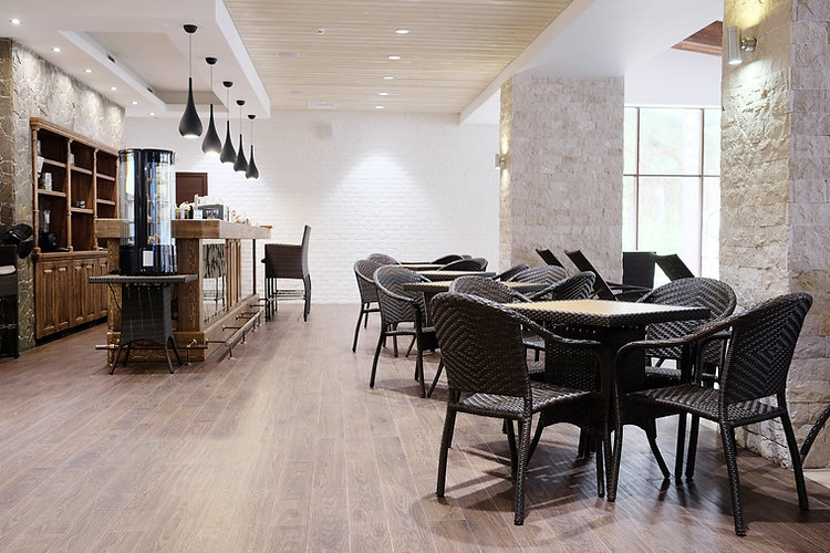 Restaurant establishment with high quality chairs and tables