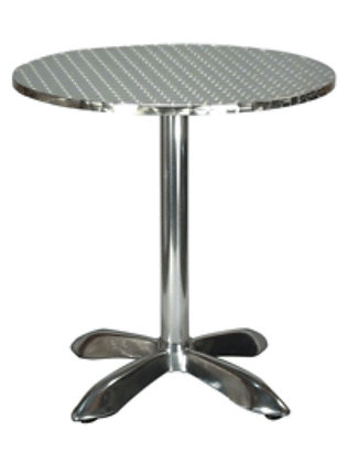 Round stainless steel outdoor patio table