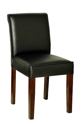 Dark green leather upholstery dining chair