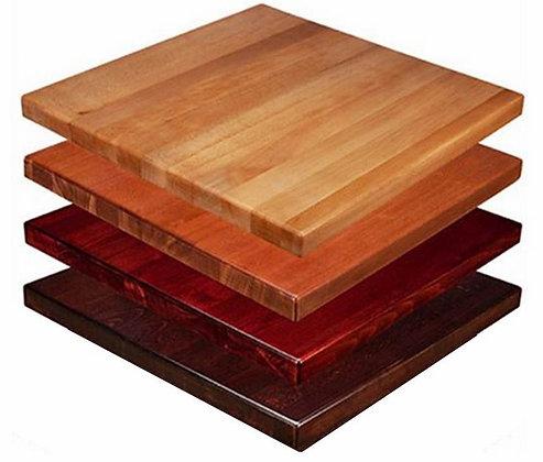 dark, mahogany, light brown and black square table top