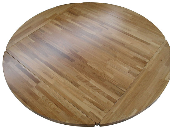 Square to Round wood dining table top