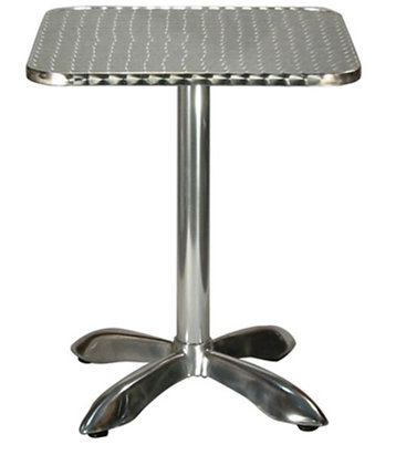 Square stainless steel outdoor patio table