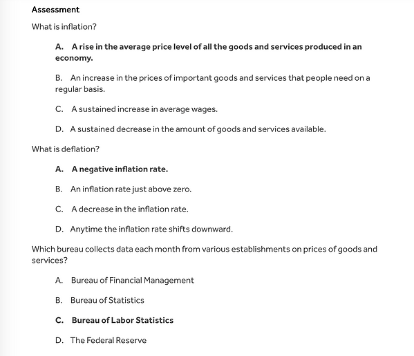 Inflation Assessment - A quiz! One the Nose Finance