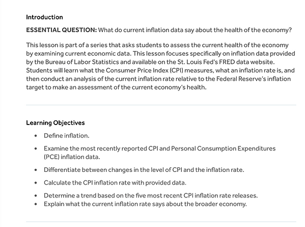 On The Nose Finance aims to increase financial literacy of teens. This photo shows an inflation project students can do to determin if the economy is healthy. What does curren inflaton say abou the economy?