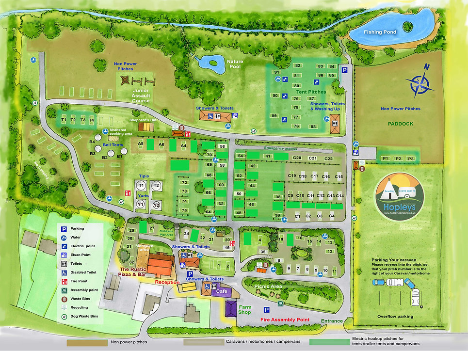 Hopleys Site Map - Social Distancing .jp