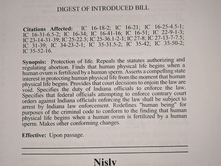 Rep. Nisly Files Bill to End Abortion