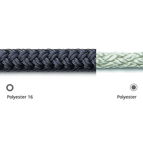 Doublebraid 5mm Blue [Robline Orion-500] ABS = 598-kg Cover: Polyester 16-plait