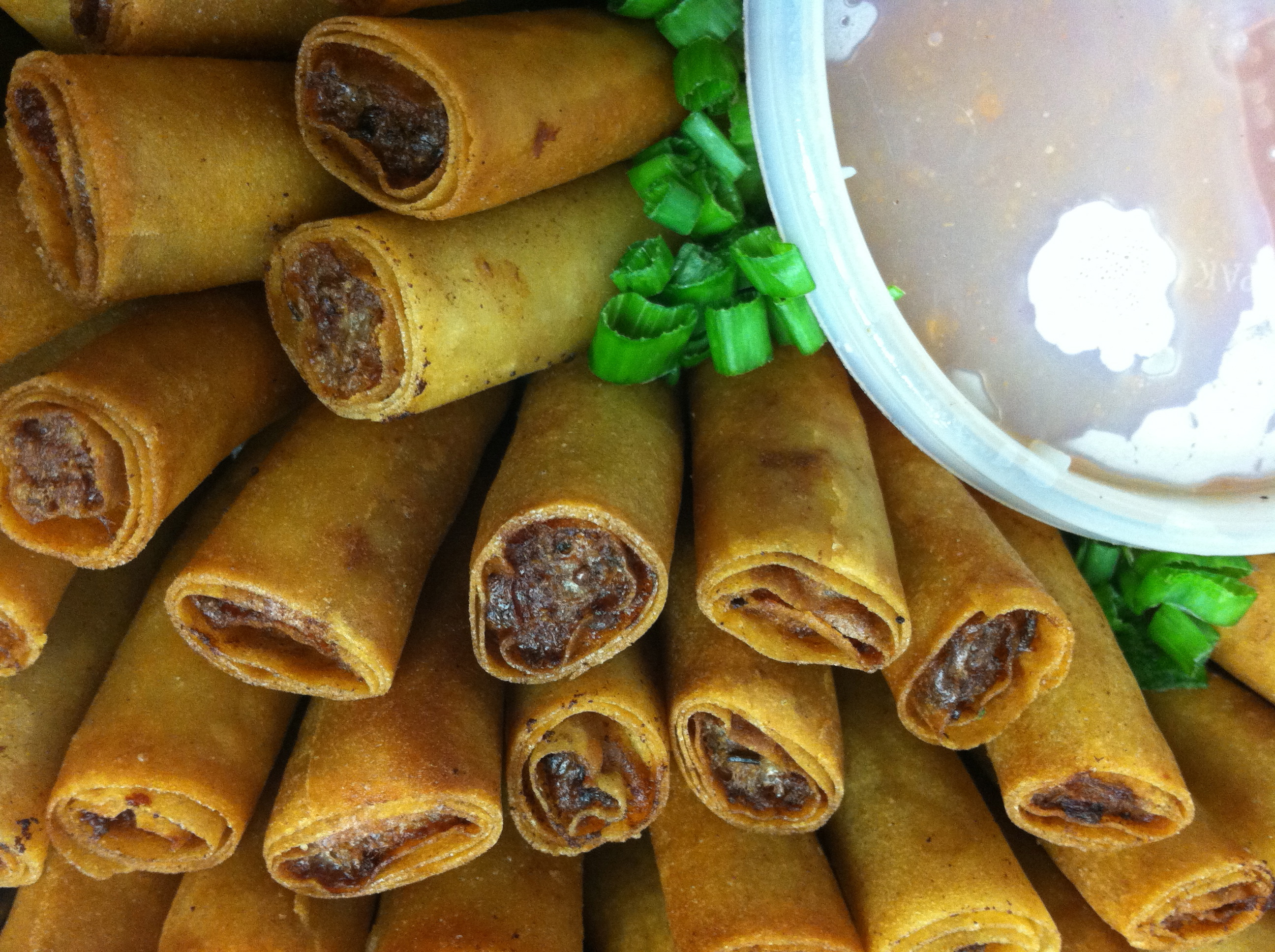 Lumpia eggrolls filipino food