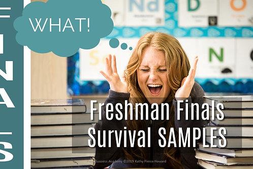 SAMPLE Freshman Finals Survival Guide
