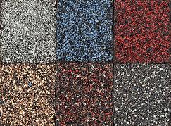 Roofing material asphalt shingles sample