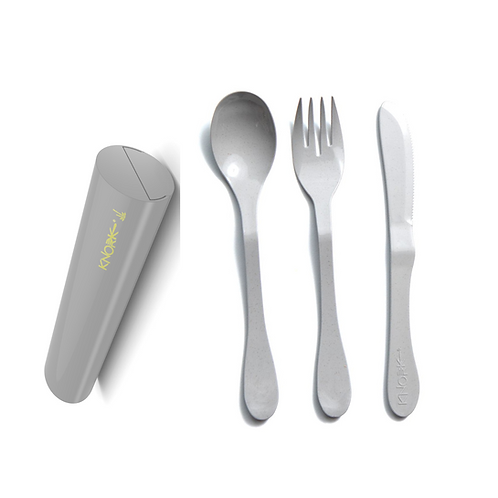 Eco 4 Piece (fork, knife, spoon) and Carry Case