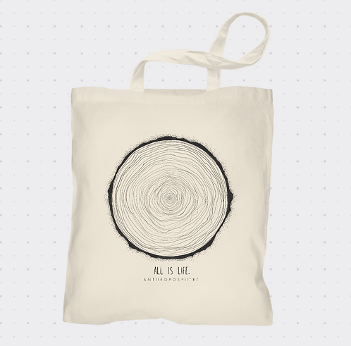 Anthroposphere 'All is Life' Tote Bag