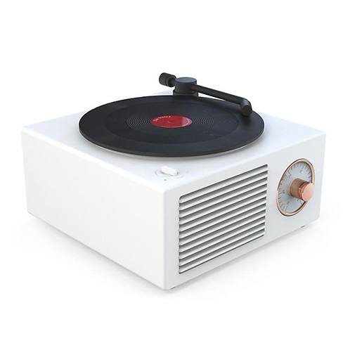 Atomic Vinyl Wireless Speaker WHITE