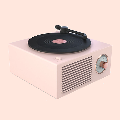 Atomic Vinyl Wireless Speaker PINK