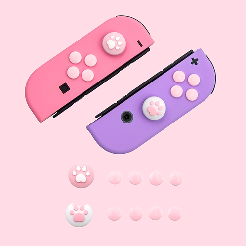 Paw Thumb Grips and Buttons PINK