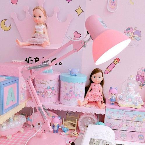 Cherry Pink Tri-color Desk Lamp