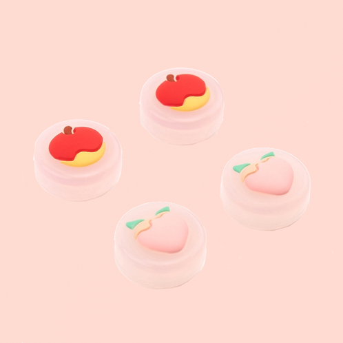 Fruit Jelly Joycon Thumb Grips APPLE/PEACH